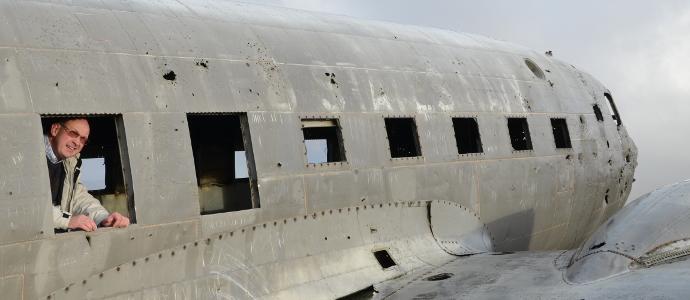Foto: ap im Flugzeugwrack